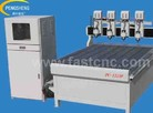 Advertising cnc router with four spindles