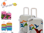 ABS+PC Colourful Travel Trolley Luggage Bag