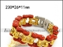 Golden and Outer Red Bicycle Stainless Steel Jewelry