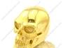Large Shiny Polished Gold Plating Skull Ring r002611