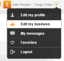 Business Profile - Dropdown Menu